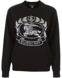 Burberry - Intarsia Wool-blend Jumper - Lyst