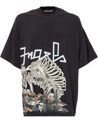 Palm Angels Desert Skull Bones T-shirt - Black