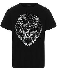 Billionaire Motif Printed Crewneck T-shirt - Black