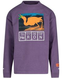 Heron Preston Graphic Printed Sweatshirt - Purple