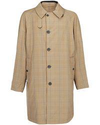 Lanvin Beige Wool Trench Coat - Brown