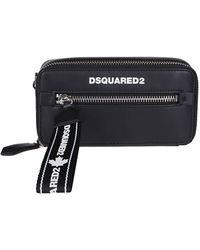 DSquared² Logo Print Crossbody Bag - Black