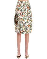 Tory Burch Floral Print Skirt - Multicolour