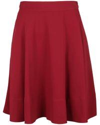 Calvin Klein Polyester Skirt - Red