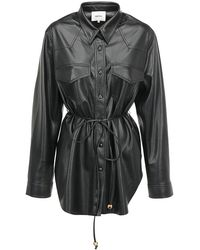 Nanushka Eddy Belted Shirt - Black