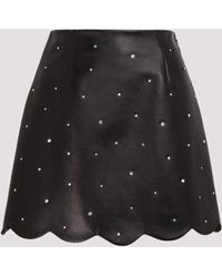 Miu Miu Crystal Embellished A-line Skirt - Black