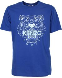 KENZO Tiger Print T-shirt - Blue
