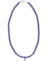 Isabel Marant Shell Pendant Beaded Necklace - Blue