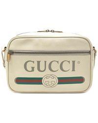 Gucci Logo Print Crossbody Bag