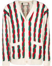 Gucci Braided Striped Cardigan - Multicolour