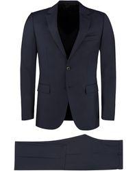 Lanvin Two-piece Wool Suit - Blue