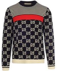 Gucci GG And Stripes Knit Sweater - Multicolor