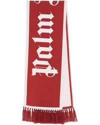 Palm Angels Logo Scarf - Red