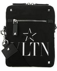Valentino Garavani Valentino Garavani Vltn Star Print Shoulder Bag - Black