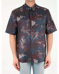 Dior X Peter Doig Camouflage Short Sleeve Shirt - Blue