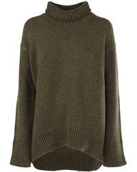 Plan C Turtleneck Knitted Jumper - Green