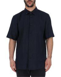 Issey Miyake Button-up Shirt - Blue