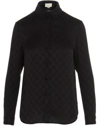 Gucci GG Jacquard Motif Shirt - Black