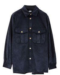 Loewe Corduroy Oversize Shirt - Blue