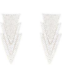 Alessandra Rich Triangle Earrings - Metallic