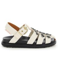 Marni Sandals With Crystals - Multicolour