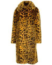 Stand Studio Maxine Faux Fur Coat - Yellow