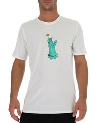 Nike Statue Of Liberty Pizza T-shirt - White