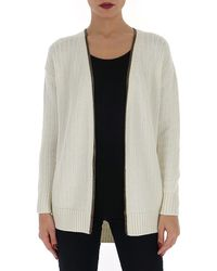 Saint Laurent Zip-up Cardigan - White