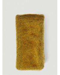Marni Faux-fur Scarf - Yellow