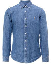 Polo Ralph Lauren Slim-fit Denim Shirt - Blue