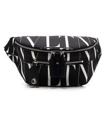 Valentino All Over Vltn Print Belt Bag - Black