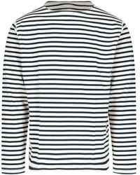 Junya Watanabe Striped Sweatshirt - Blue