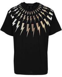 Neil Barrett Lightning Bolt T-shirt - Black