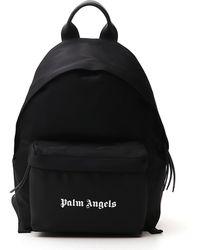 Palm Angels Logo Print Backpack - Black