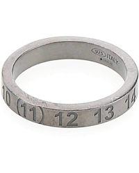 Maison Margiela Numbers Engraved Ring - Metallic