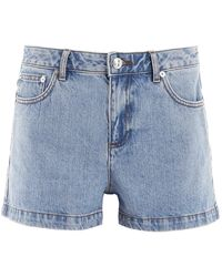 A.P.C. Flared Denim Shorts - Blue