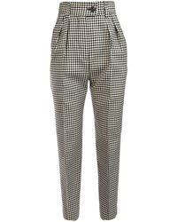 Miu Miu Checked Tapered Pants - Gray