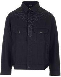 Marcelo Burlon Wings Embroidered Jacket - Black