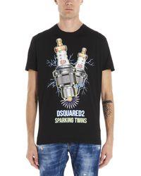 DSquared² 'sparking Twins' T-shirt - Black