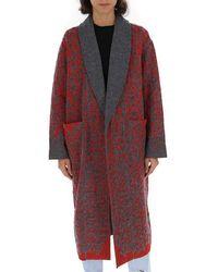 Missoni Printed Cardigan Coat - Red