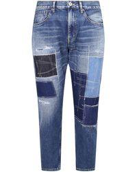 Junya Watanabe Patched Denim Jeans - Blue