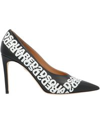 DSquared² Big Logo Court Shoes - Black