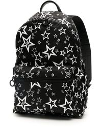 Dolce & Gabbana Mixed Star Print Vulcano Backpack In Nylon - Black