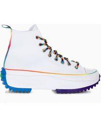 Converse Run Star Hike Pride High Top Sneakers - White
