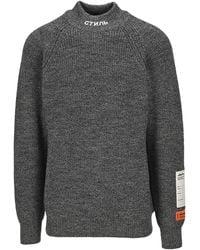 Heron Preston Logo Turtleneck Sweater - Gray