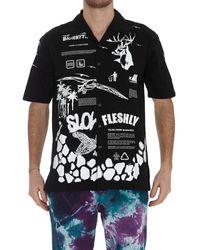 Mauna Kea Biorhythm Printed Bowling Shirt - Black