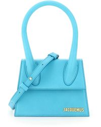 Jacquemus Le Chiquito Moyen Small Tote Bag - Blue