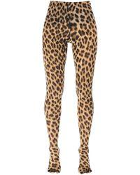 Sportmax Leopard Printed leggins - Multicolour