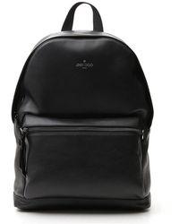 Jimmy Choo Wilmer Logo Backpack - Black