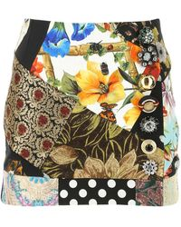 Dolce & Gabbana Patchwork Mini Skirt - Multicolour